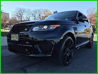 """2015 Land Rover Range Rover Sport 5.0L V8 Supercharged SVR Black Tan/Ebony $115,589 550 HP Driver Assistance Adaptive Cruise Vision & Convenience 22"""" Wheels Awesome"""