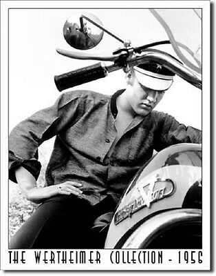 Elvis Metal Sign/Poster - Elvis on Bike