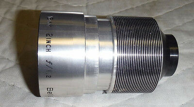 Bell & Howell Projector Lens 16 mm 2 inch f/1.2 Silver & Black
