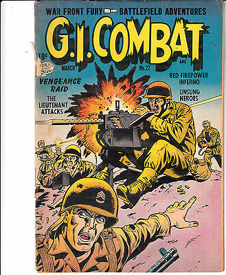 G.I. COMBAT #22 (Quality Comics, March 1955)  G-/G  *** Hard to Find ***