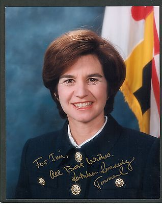 """Kathleen Kennedy Townsend as MD Lt. Governor - 8""""x10"""" AUTOGRAPHED Glossy Photo"""