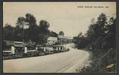 Salisbury MD: c.1940s Road Scene, shows Old Mill and a Dam?