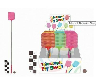 Fly SWAT/Swatter ~ Telescopic FLY SWAT/WASPS/BUGS/INSECTS 72cm)