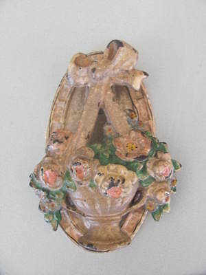Hubley Door Knocker Basket of Flowers 124