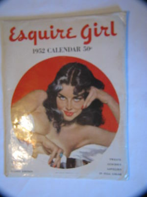 Vintage Vargas Pinup Glossy Edition 1952 Esquire Girl 12-Month Calendar