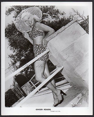 leggy swimsuit pinup GINGER ROGERS Vintage Orig Photo sexy dancer actress
