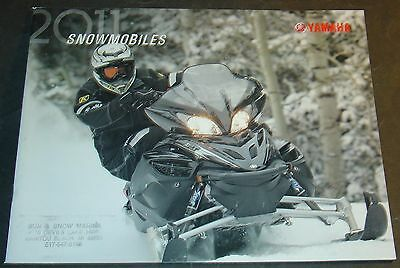 2011 Yamaha Snowmobile Full Line Sales Brochure 36 Pages  (871)