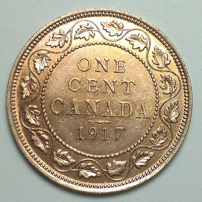 1917 Canada large Cent coin, 1 penny