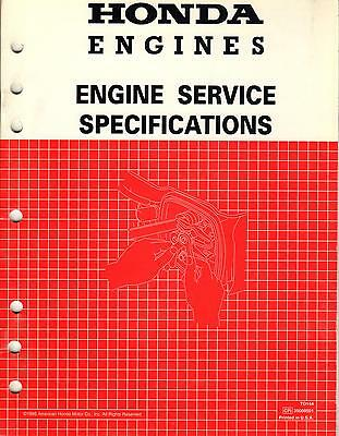 1994 Honda Engines Service Specifications  Shop Service Manual (966)