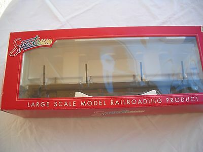 Spectrum 88399 Flat Car with Stakes, Painted Unlettered Black, 1.20.3 G Scale