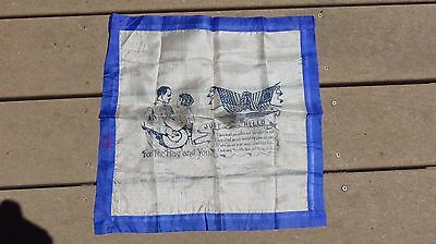 WW1 World War 1 Silk For the Flag and You Hankie Handkerchief US Army Military