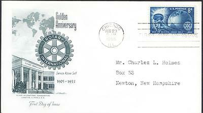 50th ANNIVERSARY ROTARY INTERNATIONAL Stamp First Day Cover