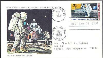 APOLLO 11 FIRST MAN ON THE MOON Stamp C76 First Day Cover FDC
