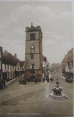 "Vintage ""st Albans"" Postcard. ""the Clock Tower"""