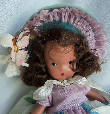 """Nancy Ann Story Book Doll FRIDAY'S CHILD is Loving and Giving, MIB Bisque 5"""""""