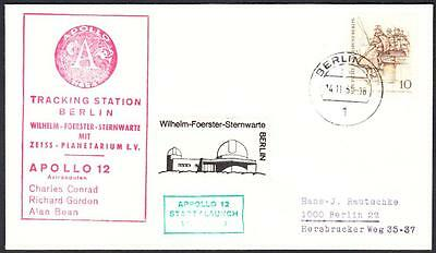 APOLLO 12 LAUNCH NASA Tracking Station Berlin Geremany 1969 Space Cover