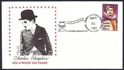 HOLLYWOOD 100th ANNIVERSARY Actor CHARLIE CHAPLIN Commemorative Cover