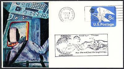 APOLLO 17 REENTRY & RECOVERY WRH Photo Cachet 1972 Space Cover