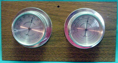Vintage SPRINGFIELD WEATHER STATION Thermometer & Humidity Meter