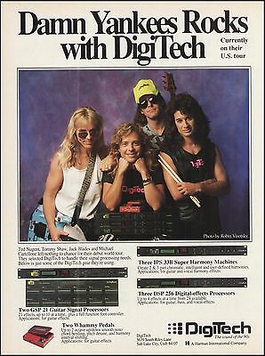 Damn Yankees Ted Nugent Tommy Shaw Jack Blades 1991 Digitech 8 x 11 ad print