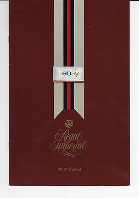 Northwest Orient Airlines First Class Domestic Menu Msp Rothmeir Letter Dinner