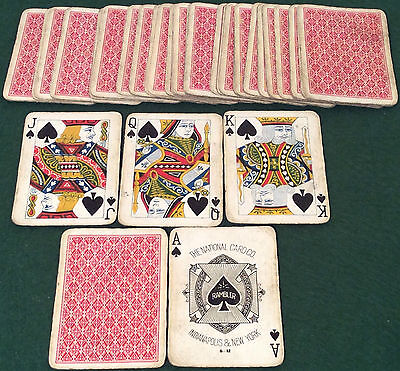 ANTIQUE c1895  NATIONAL CARD Co. ** RAMBLER No.22 ** PLAYING CARDS   NU7b