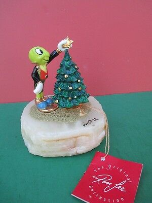 Disney JIMINY CRICKET Star On Christmas Tree Statue- Ron Lee Limited Signed 1997