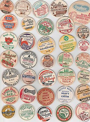 Lot Of 70 All Different Milk Bottle Caps. #45