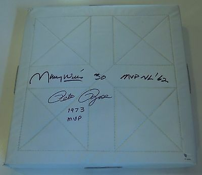 Pete Rose & Maury Wills Autographed Base with COA 1962 & 1973 MVP