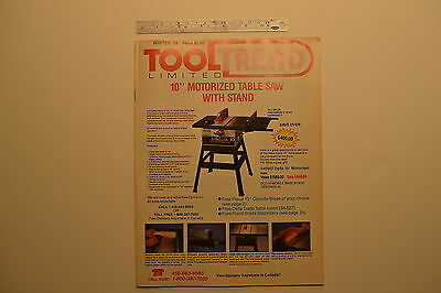 #J121 DELTA  Woodworking Cabinetmaking Machinery- TOOL TREND LMTD. Magazine 1988