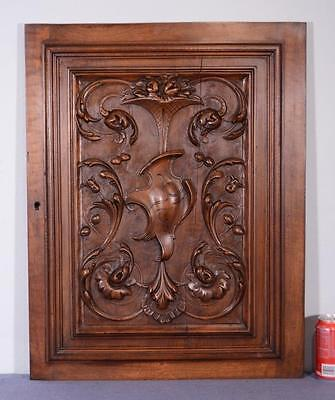 French Antique Louis XVI Style Panel/Door in Solid Walnut Wood (K)