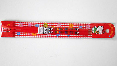 VINTAGE! 1991 HELLO KITTY Chopsticks Collectable Item by Sanrio Japan Red