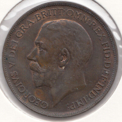 """1912 George V """"UNC""""  Penny Spink 4051 A very nice coin"""
