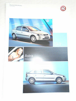Vauxhall Astra Enjoy & Sport Special Editions brochure May 2004