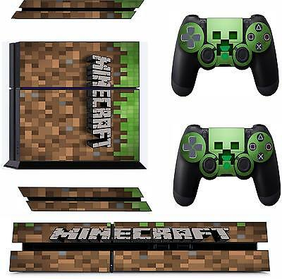 MINECRAFT 2  ps4 Skin Decal Stickers Playstation 4 Console  Controller