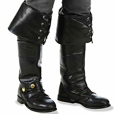 Kangaroos Deluxe Black Pirate Vinyl Boot Covers/Boot Tops New