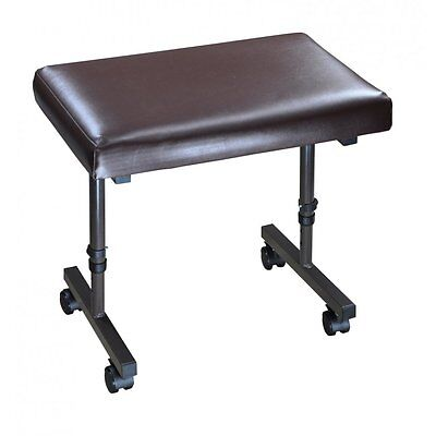 Beaumont Adjustable Footrest Foot Stool Leg Rest Support Footstool With Castors