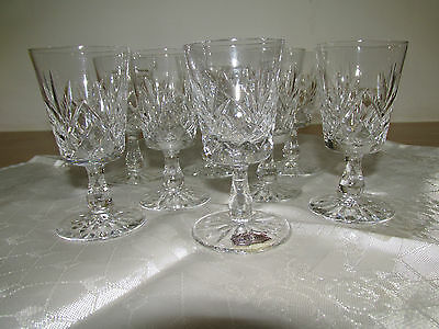 Set Of 8 Vintage Hand Cut Lead Crystal Liqueurglasses Made In Czechoslovakia