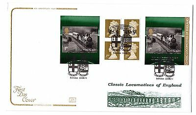 2011 GB Classic Locomotives of England Booklet Cotswold FDC Swindon postmark