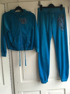 Juicy Couture Velour Tracksuit Top Age 10 Bottoms Age 12