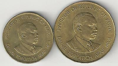 2 DIFFERENT COINS from KENYA - 5 & 10 CENTS (BOTH DATING 1987)