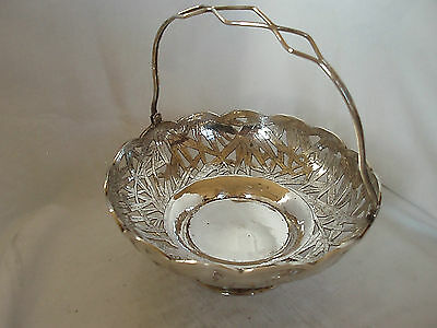 Pierced Bowl Chinese Sterling Silver Circa 1930
