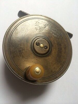 "Vintage Hardy Brass ""Rod In Hand"" Trout Fly Reel"
