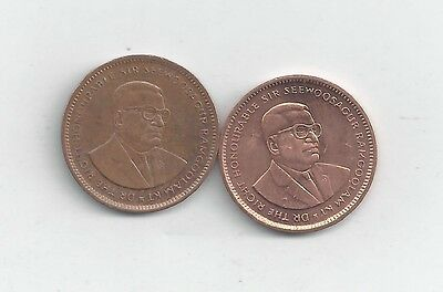 2 DIFFERENT 5 CENT COINS from MAURITIUS (2005 & 2007)