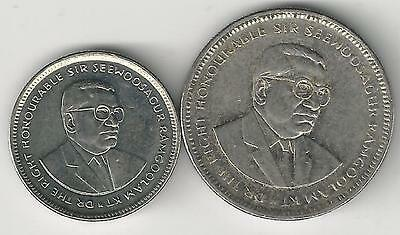 2 DIFFERENT COINS from MAURITIUS - 20 CENTS & 1/2 RUPEE (BOTH DATING 2007)
