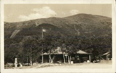 Camps Bldg & Car Mt. Washington NH c1920 Real Photo Postcard