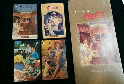 Rare set of 4 Singapore metro mrt subway cards on Coca-cola advertisement mint!