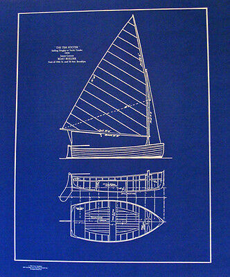 Classic Dinghy Sail Boat 1920 10 footer Blueprint Plan 18x24  (171)