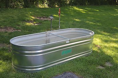 "USED Galvanized Steel Oval Trough 314 Gallon Capacity, 97-3/4""x38""x23-1/8"" Deep"