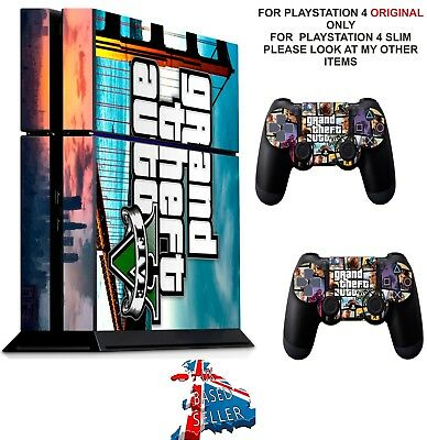 GTA 5 (2)  ps4 Skin Decal Stickers Playstation 4 Console & Controller